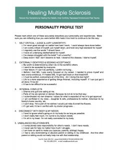 Multiple Sclerosis Personality Test